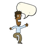 Cartoon shrieking man with speech bubble Royalty Free Stock Photos