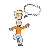 Cartoon shrieking man with speech bubble Royalty Free Stock Photos