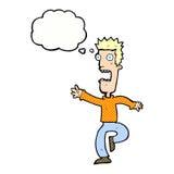 Cartoon shrieking man with thought bubble Royalty Free Stock Photos