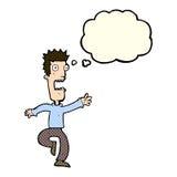 Cartoon shrieking man with thought bubble Royalty Free Stock Photo