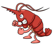 Cartoon shrimp Stock Photos