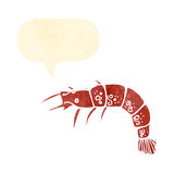 Cartoon shrimp Stock Images