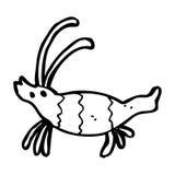 Cartoon shrimp Royalty Free Stock Photo