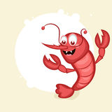 Cartoon of a shrimp. Stock Photos