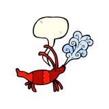 Cartoon shrimp with speech bubble Royalty Free Stock Photo