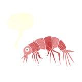 Cartoon shrimp with speech bubble Stock Photography