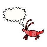 Cartoon shrimp with speech bubble Stock Photos