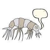Cartoon shrimp with speech bubble Stock Photo