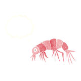 Cartoon shrimp with thought bubble Royalty Free Stock Photography