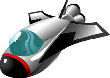Cartoon shuttle. Shuttle in cartoon style as a  illustration Stock Photo
