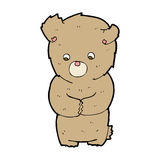 cartoon shy teddy bear Royalty Free Stock Image