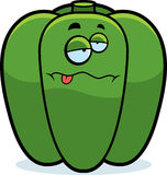 Cartoon Sick Bell Pepper Royalty Free Stock Photo