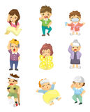 Cartoon Sick Character Stock Images