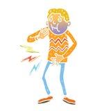 Cartoon sick illustration. Colour vector Royalty Free Stock Photo