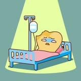 Cartoon sick Teeth lying Stock Images
