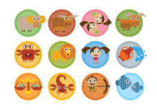 Cartoon signs of zodiac Stock Photo