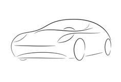 Cartoon silhouette of a car Stock Image