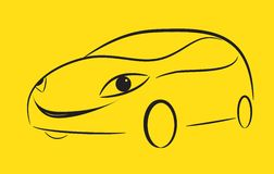 Cartoon silhouette of a car Royalty Free Stock Image