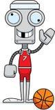 Cartoon Silly Basketball Player Robot Royalty Free Stock Photos