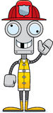 Cartoon Silly Firefighter Robot Royalty Free Stock Photography
