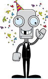 Cartoon Silly Party Robot Royalty Free Stock Image