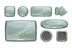 Cartoon silver game assets Royalty Free Stock Images