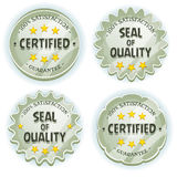 Cartoon Silver Premium Quality Seals Stock Photography
