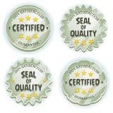 Cartoon Silver Premium Quality Seals Stock Photography