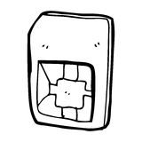 cartoon sim card Royalty Free Stock Photo