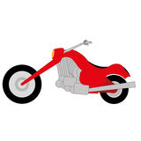 Cartoon Simple Motorcycle Royalty Free Stock Images