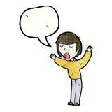 Cartoon singing boy Royalty Free Stock Photos