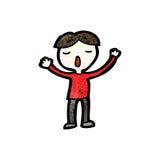 Cartoon singing boy Royalty Free Stock Images