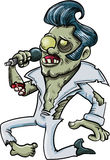 Cartoon singing zombie Elvis Stock Photography