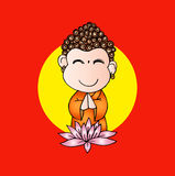 Cartoon Sithata Monk concentration Royalty Free Stock Photo