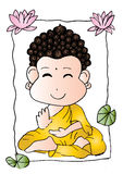 Cartoon Sithata Monk concentration Stock Images