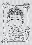 Cartoon Sithata Monk concentration Royalty Free Stock Photography