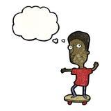 Cartoon skateboarder Stock Photo