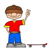 A cartoon skater boy Royalty Free Stock Images