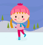 Cartoon skating girl Stock Images