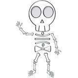 Cartoon skeleton Royalty Free Stock Photo