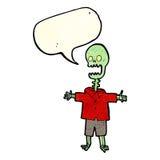 Cartoon skeleton with speech bubble Stock Photos