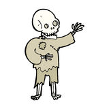 cartoon skeleton waving Royalty Free Stock Image