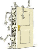 Skeletons in the closet Royalty Free Stock Photo