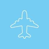 Cartoon sketch airplane icon vector illustration. Royalty Free Stock Photo