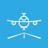Cartoon sketch airplane icon vector illustration. Stock Photo
