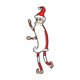 Cartoon skinny santa Stock Images