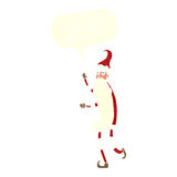 cartoon skinny santa with speech bubble Stock Photos
