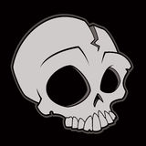Cartoon Skull. Cartoon illustration of a skull royalty free illustration