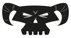 Cartoon skull Stock Photography