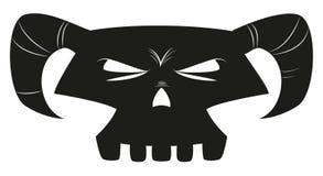 Cartoon skull stock photography